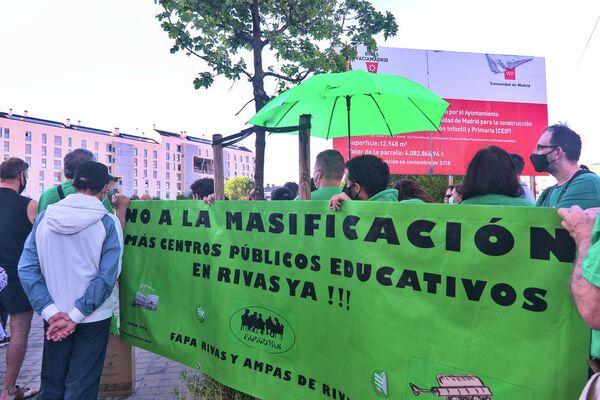 Acto informativo de la Plataforma Emergencia Educativa Rivas.   - Sputnik Mundo