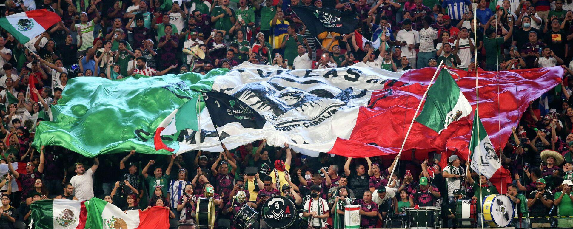Público alentando a la selección mexicana de fútbol - Sputnik Mundo, 1920, 18.06.2021