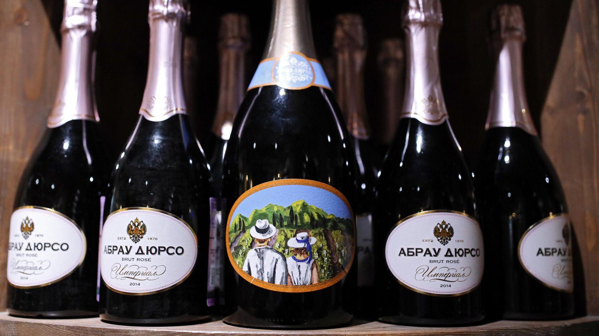 Botellas del espumante ruso Abrau-Durso - Sputnik Mundo, 1920, 20.06.2021