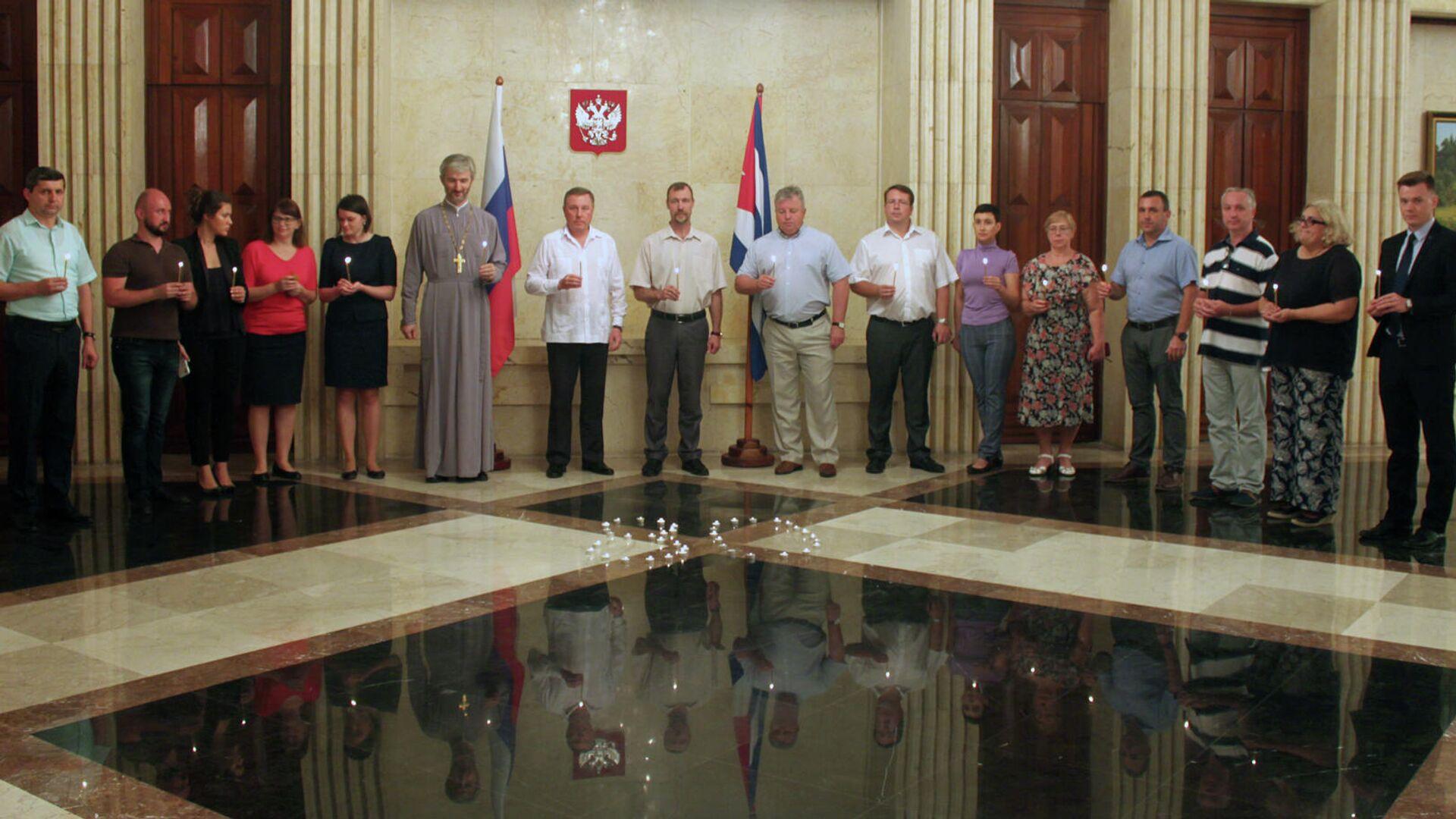 Ceremonia de la Vela de la Memoria en la embajada rusa en Cuba - Sputnik Mundo, 1920, 22.06.2021