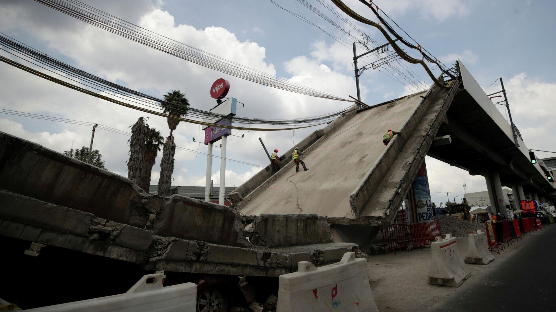 Desplome del metro en México - Sputnik Mundo, 1920, 23.06.2021