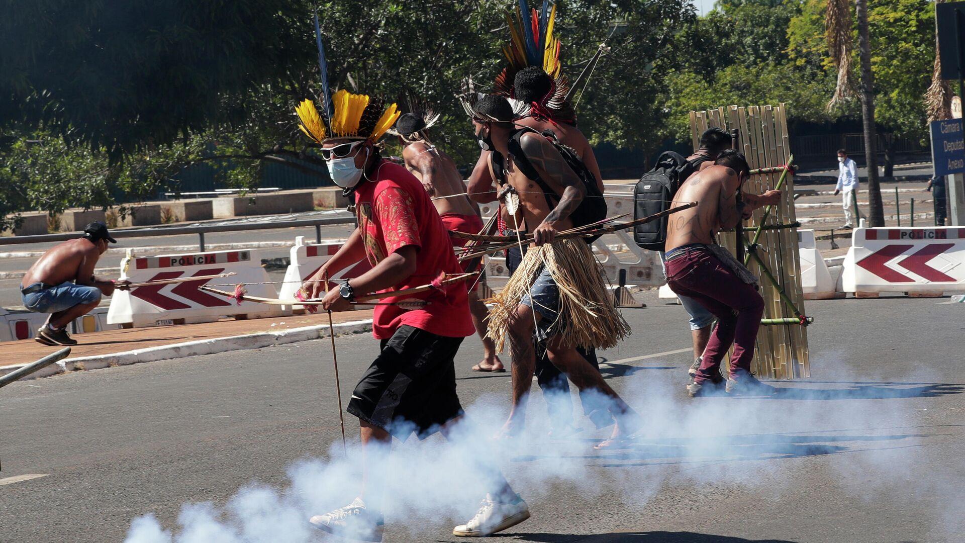 Protestas de indígenas de Brasil - Sputnik Mundo, 1920, 06.09.2021