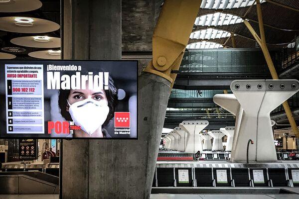 Imagen del aeropuerto de Madrid en agosto de 2020 - Sputnik Mundo