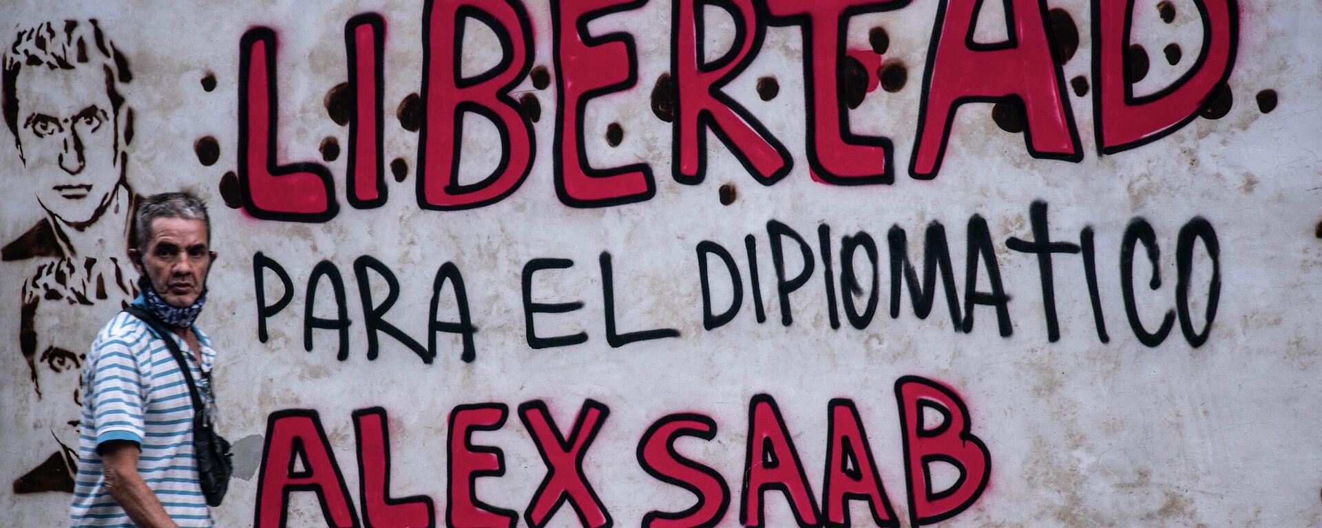 Grafiti que reclama la libertad de Alex Saab, detenido en Cabo Verde - Sputnik Mundo, 1920, 23.06.2021