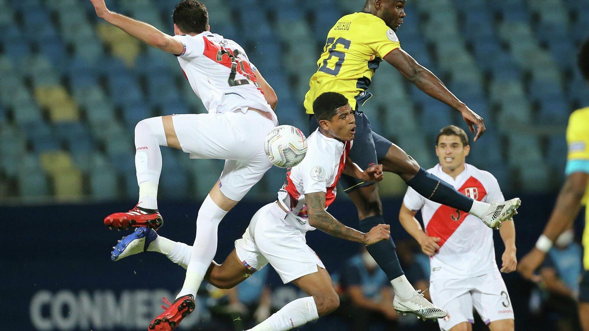 Juego entre Ecuador y Perú durante la etapa de grupos de la Copa América 2021 en Goiania (Brasil), el 23 de junio del 2021 - Sputnik Mundo, 1920, 23.06.2021