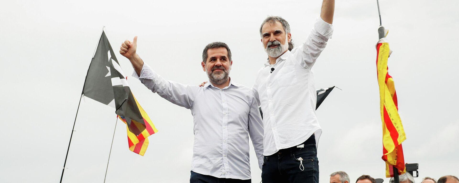 Jordi Sánchez y Jordi Cuixart,  los líderes del movimiento independentista catalán  - Sputnik Mundo, 1920, 24.06.2021
