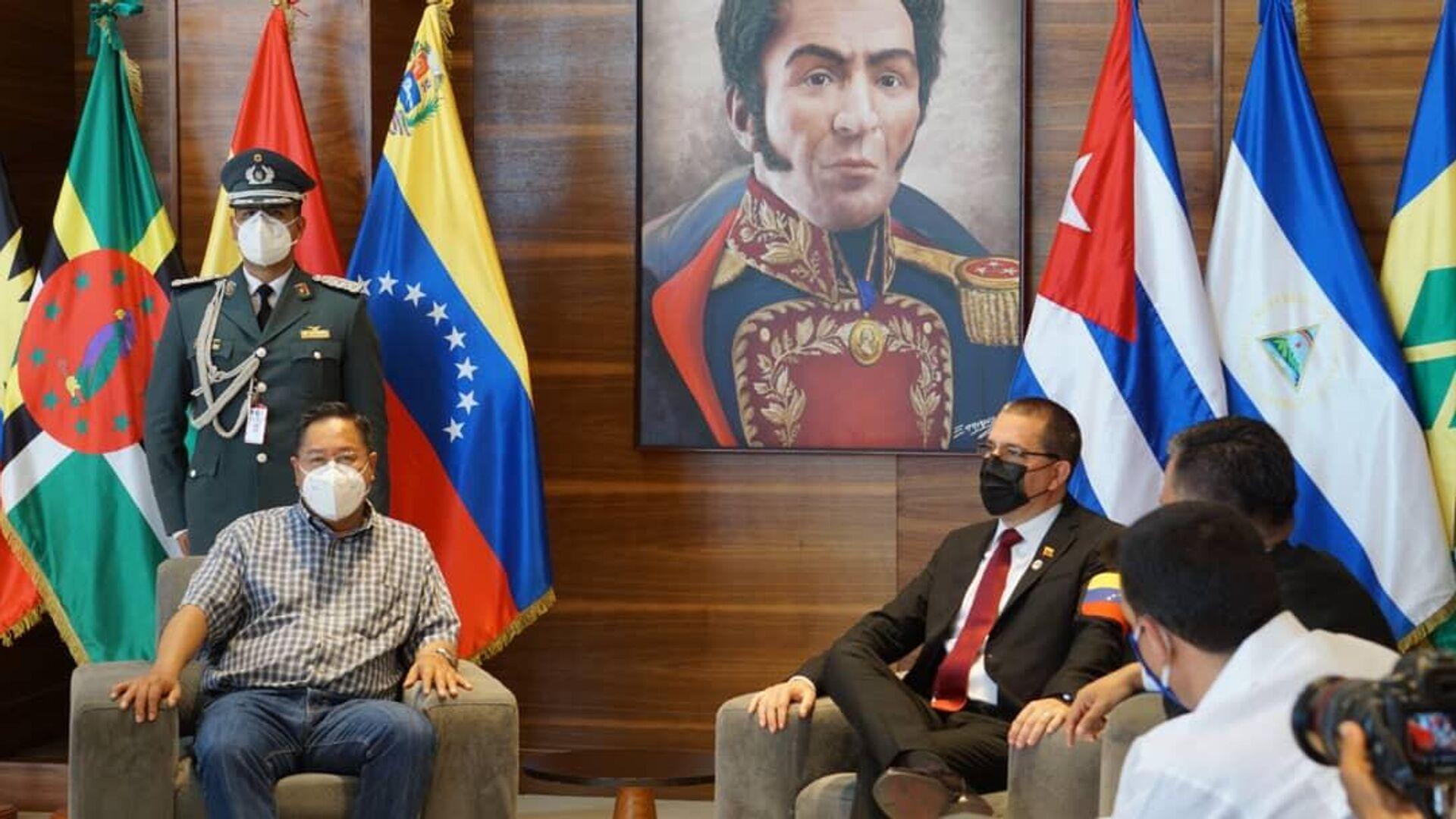 El presidente de Bolivia, Luis Arce, en Venezuela - Sputnik Mundo, 1920, 24.06.2021