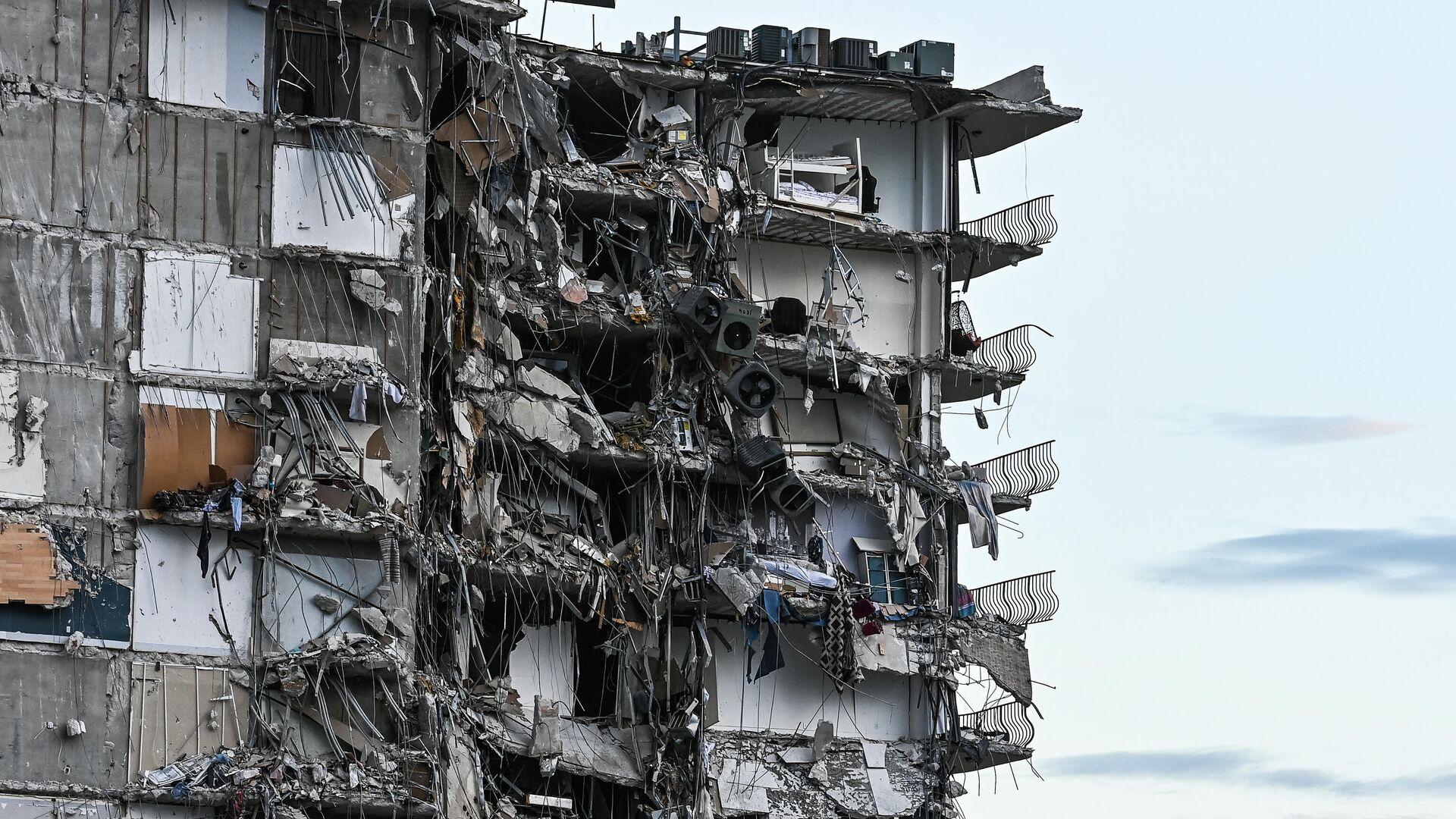 Parte del condominio colapsado en Miami el 24 de junio, 2021 - Sputnik Mundo, 1920, 24.06.2021