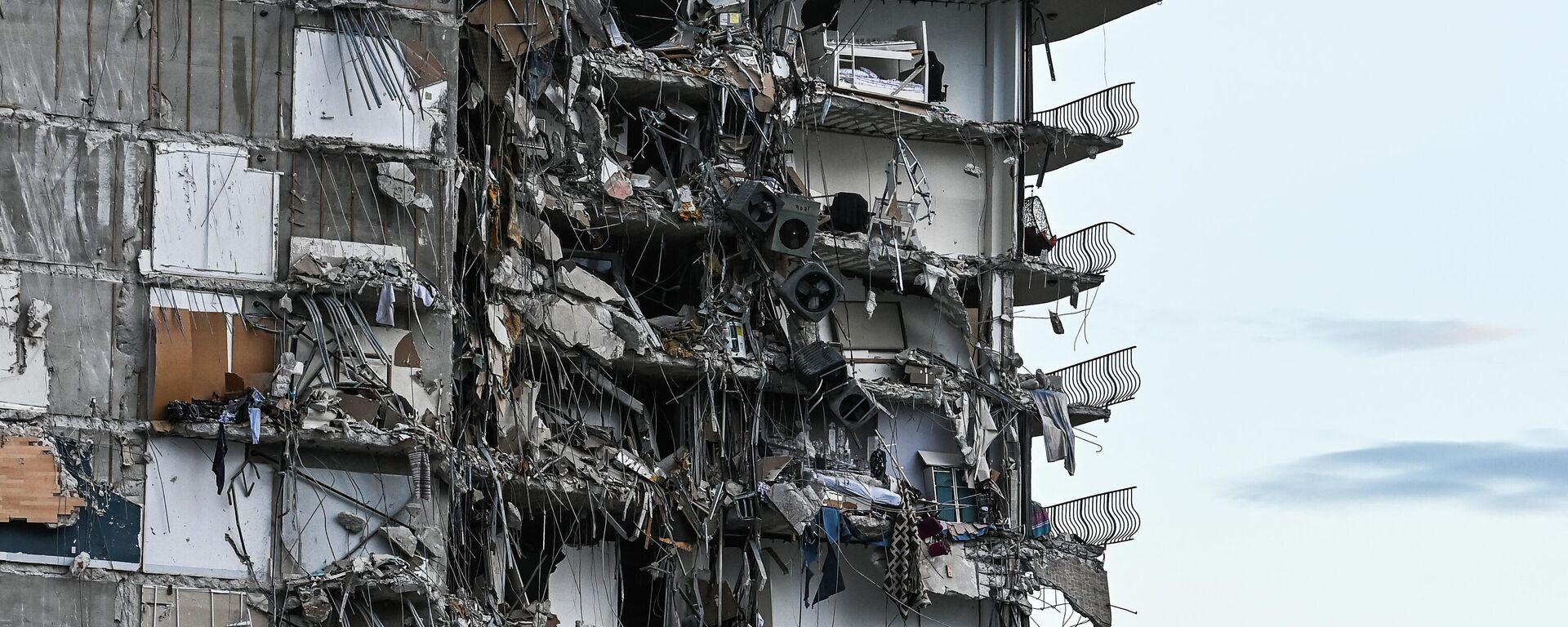 Parte del condominio colapsado en Miami el 24 de junio, 2021 - Sputnik Mundo, 1920, 01.07.2021