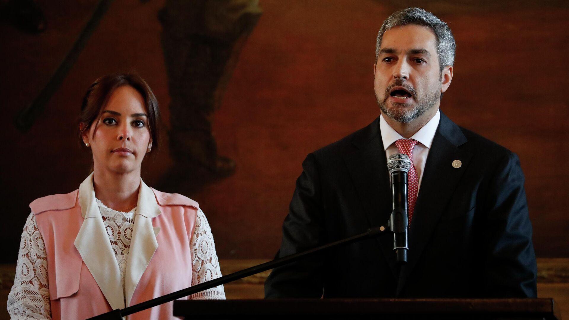 Mario Abdo Benitez, presidente de Paraguay, y Silvana  Abdo, primera dama (archivo) - Sputnik Mundo, 1920, 25.06.2021