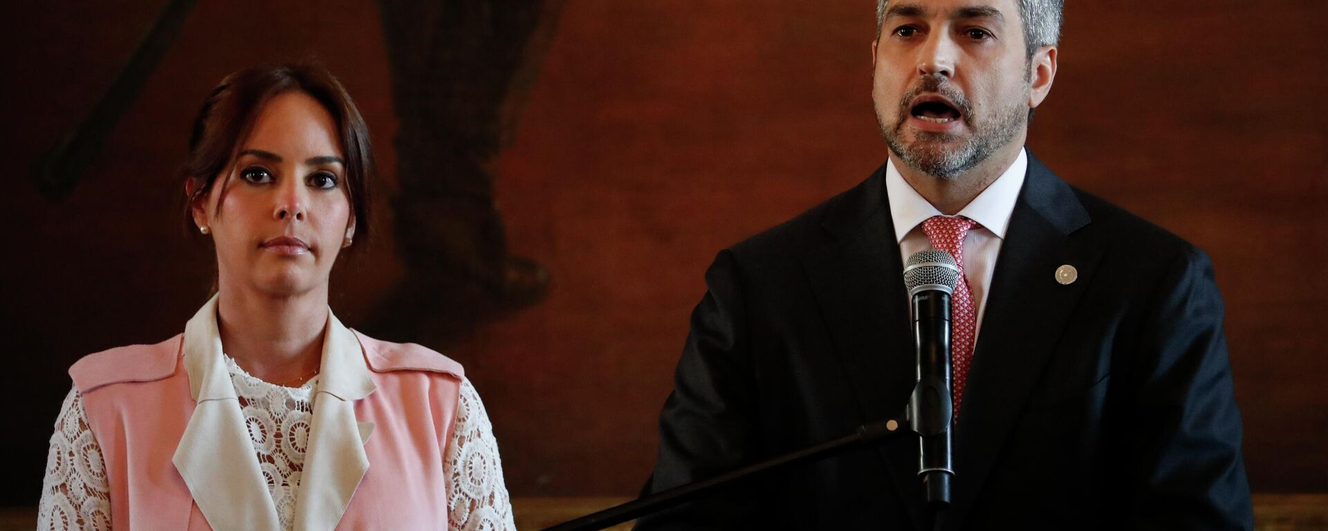 Mario Abdo Benitez, presidente de Paraguay, y Silvana  Abdo, primera dama (archivo) - Sputnik Mundo, 1920, 09.07.2021