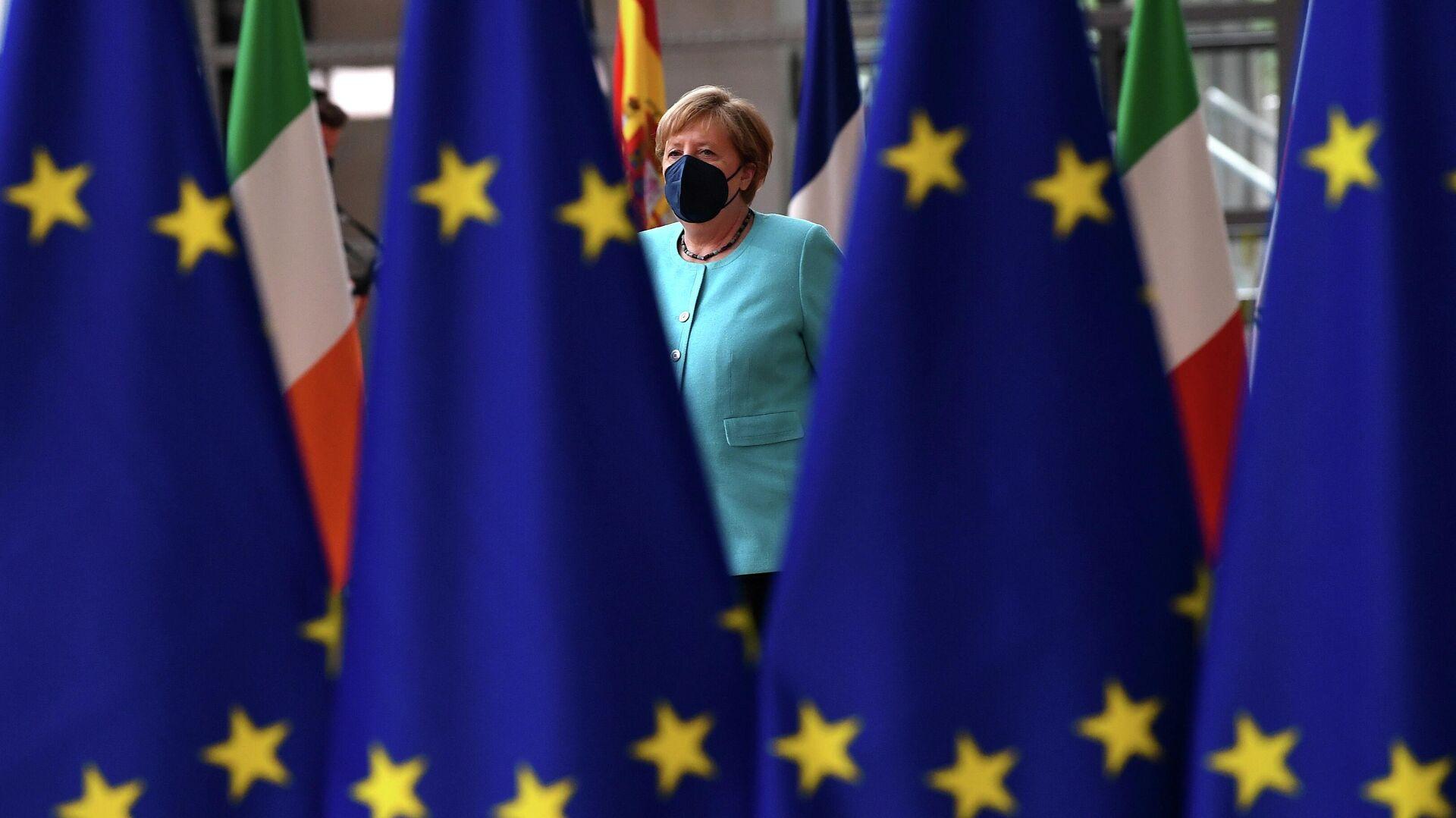 Angela Merkel, la canciller alemana en la cumbre de la UE en Bruselas, el 24 de junio de 2021  - Sputnik Mundo, 1920, 25.06.2021
