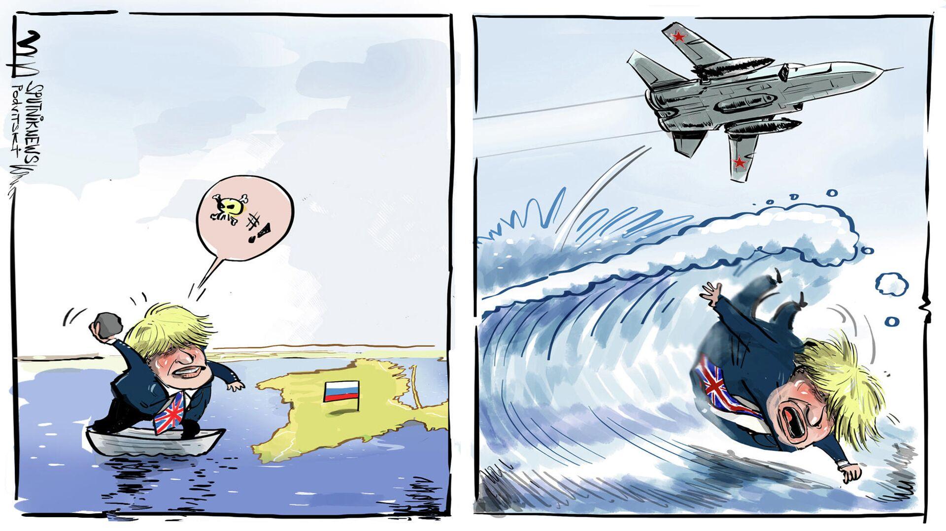 Boris Johnson aparece en el incidente del destructor británico en aguas rusas  - Sputnik Mundo, 1920, 25.06.2021