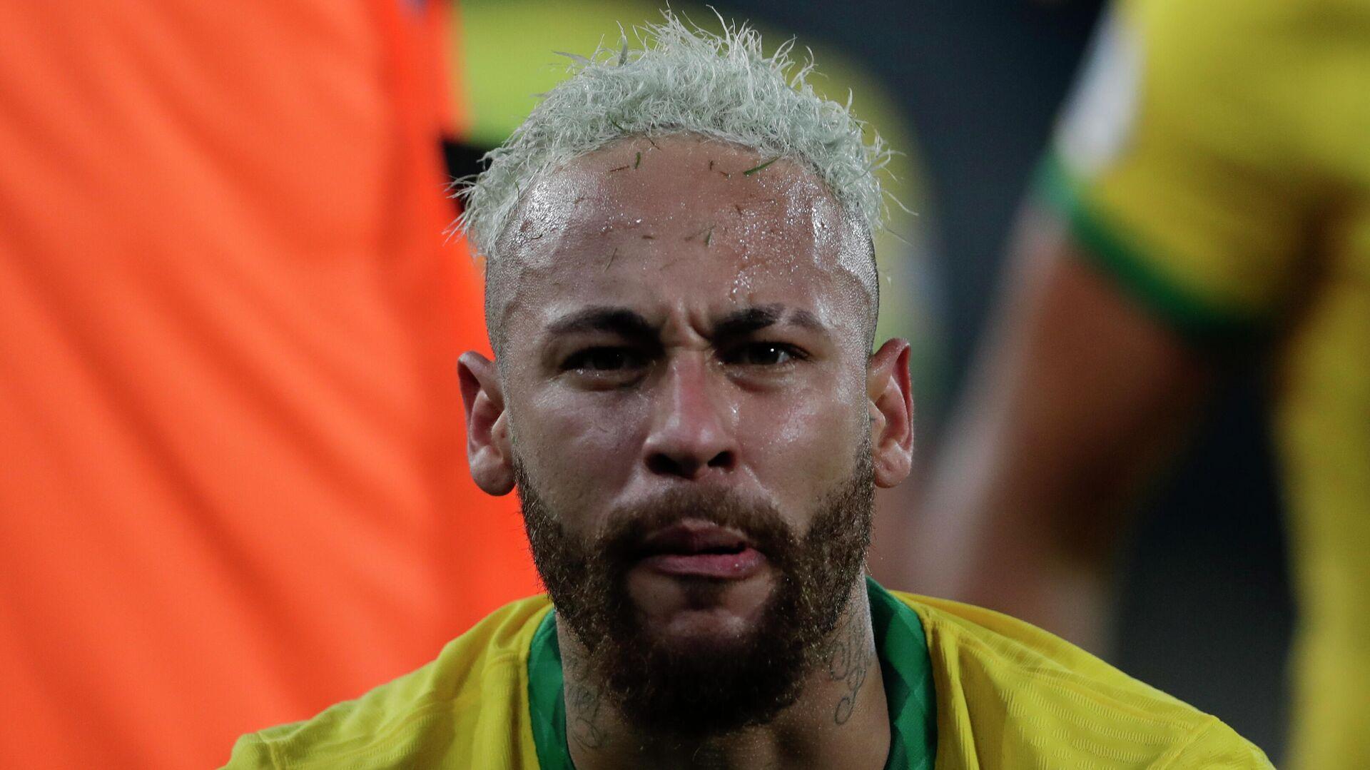 El futbolista brasileño Neymar celebra un gol durante la Copa América 2021 - Sputnik Mundo, 1920, 25.06.2021