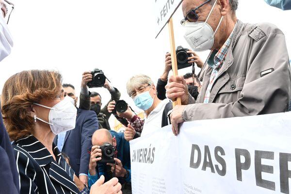 Manifestantes frente a la residencia de verano de Franco - Sputnik Mundo