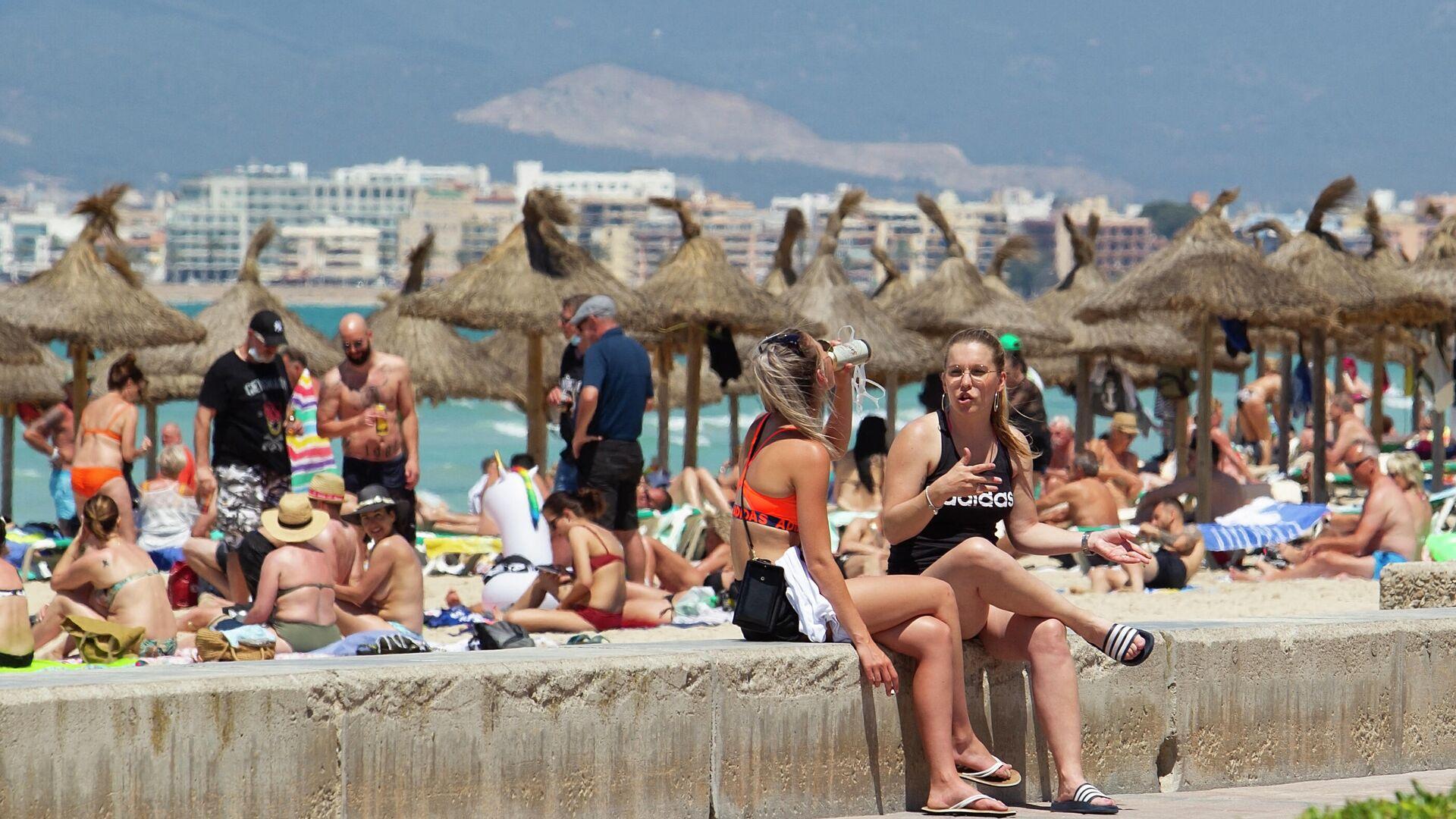 Turistas en Playa de Palma (Mallorca) - Sputnik Mundo, 1920, 28.06.2021