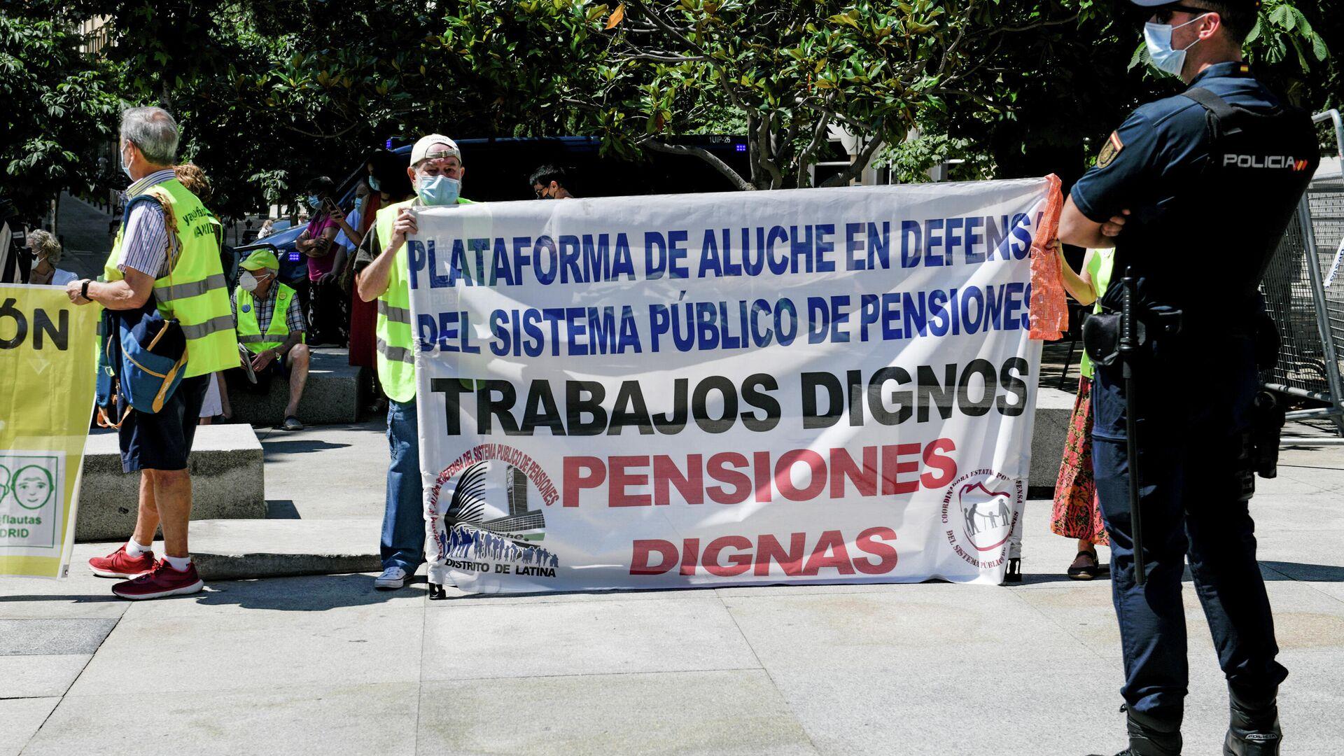 Protesta en defensa de las pensiones públicas - Sputnik Mundo, 1920, 28.06.2021