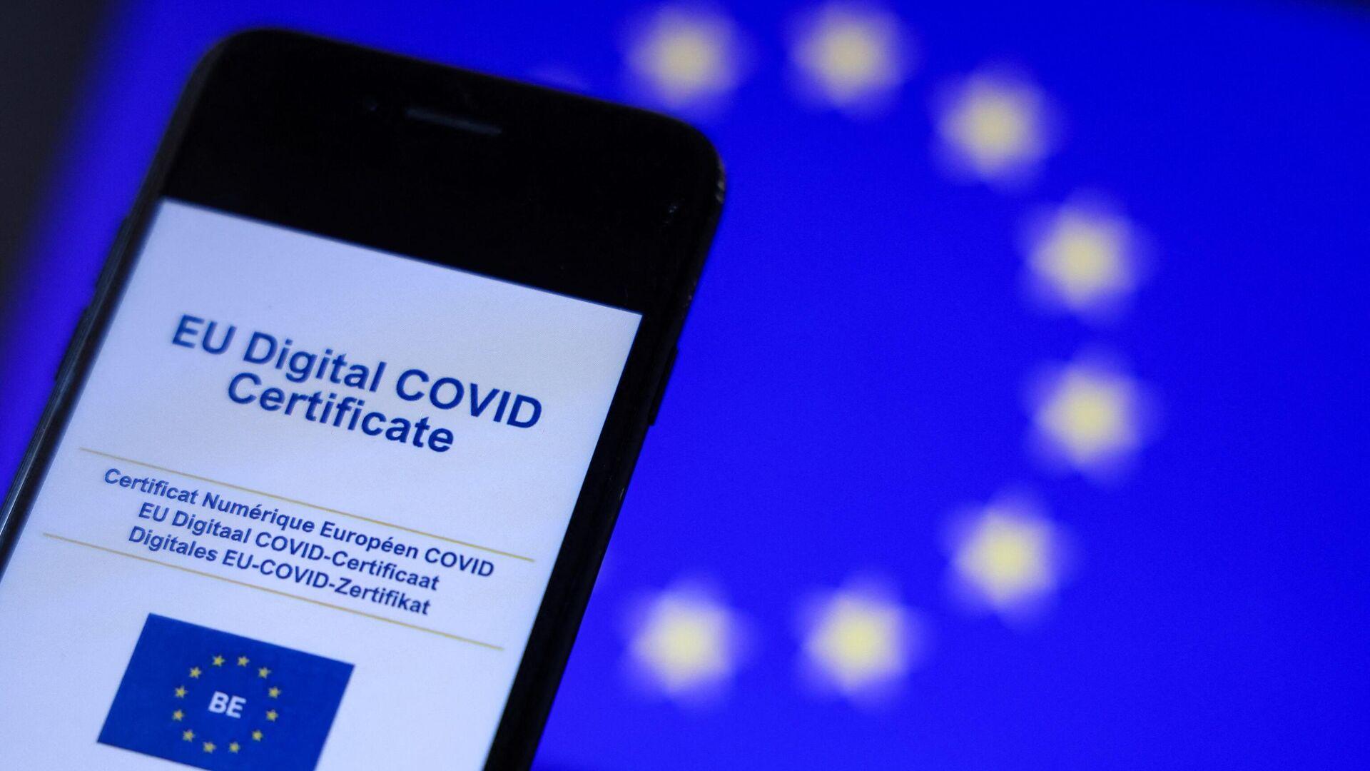 Certificado COVID digital de la Unión Europea - Sputnik Mundo, 1920, 28.06.2021