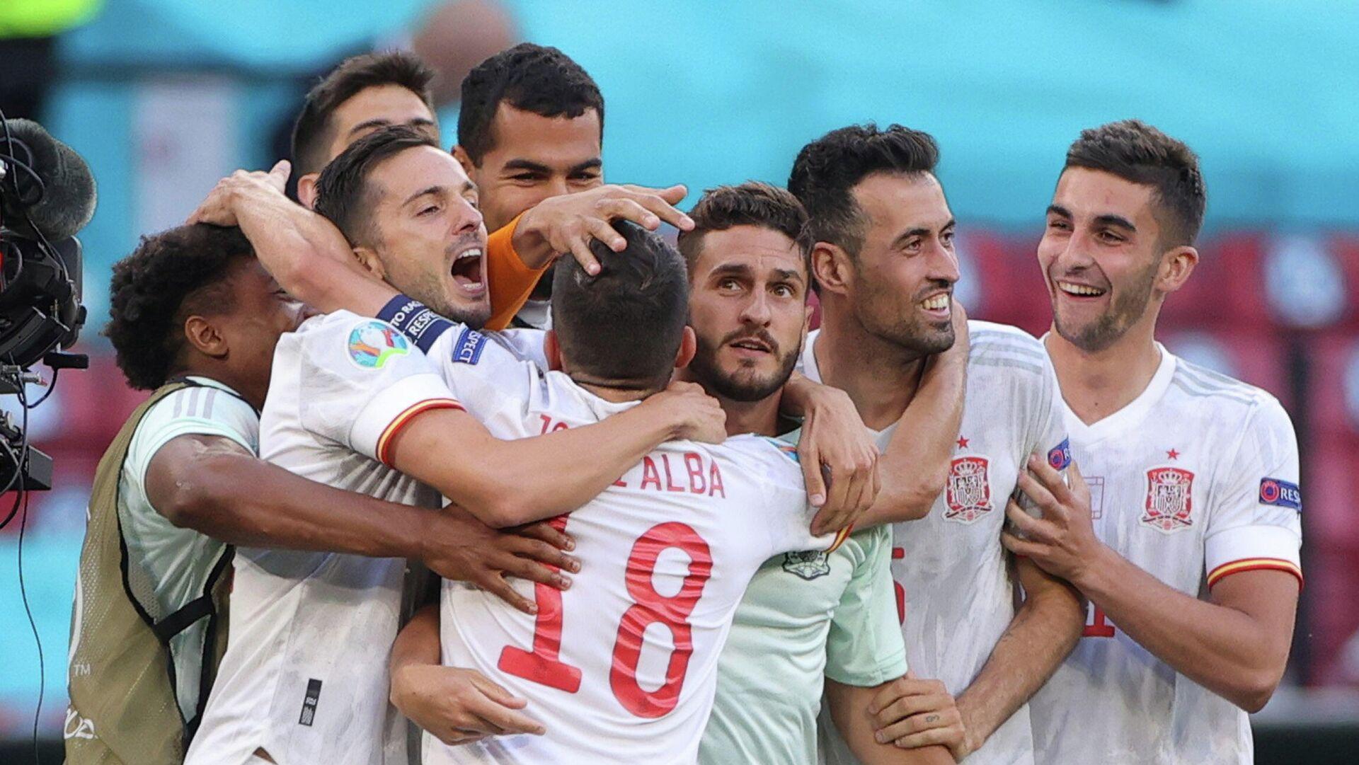 Selección española en la Eurocopa 2021 tras el partido con Croacia - Sputnik Mundo, 1920, 28.06.2021