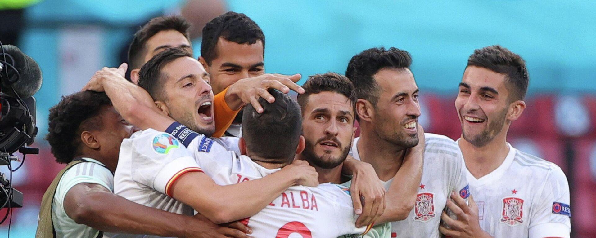 Selección española en la Eurocopa 2021 tras el partido con Croacia - Sputnik Mundo, 1920, 01.07.2021