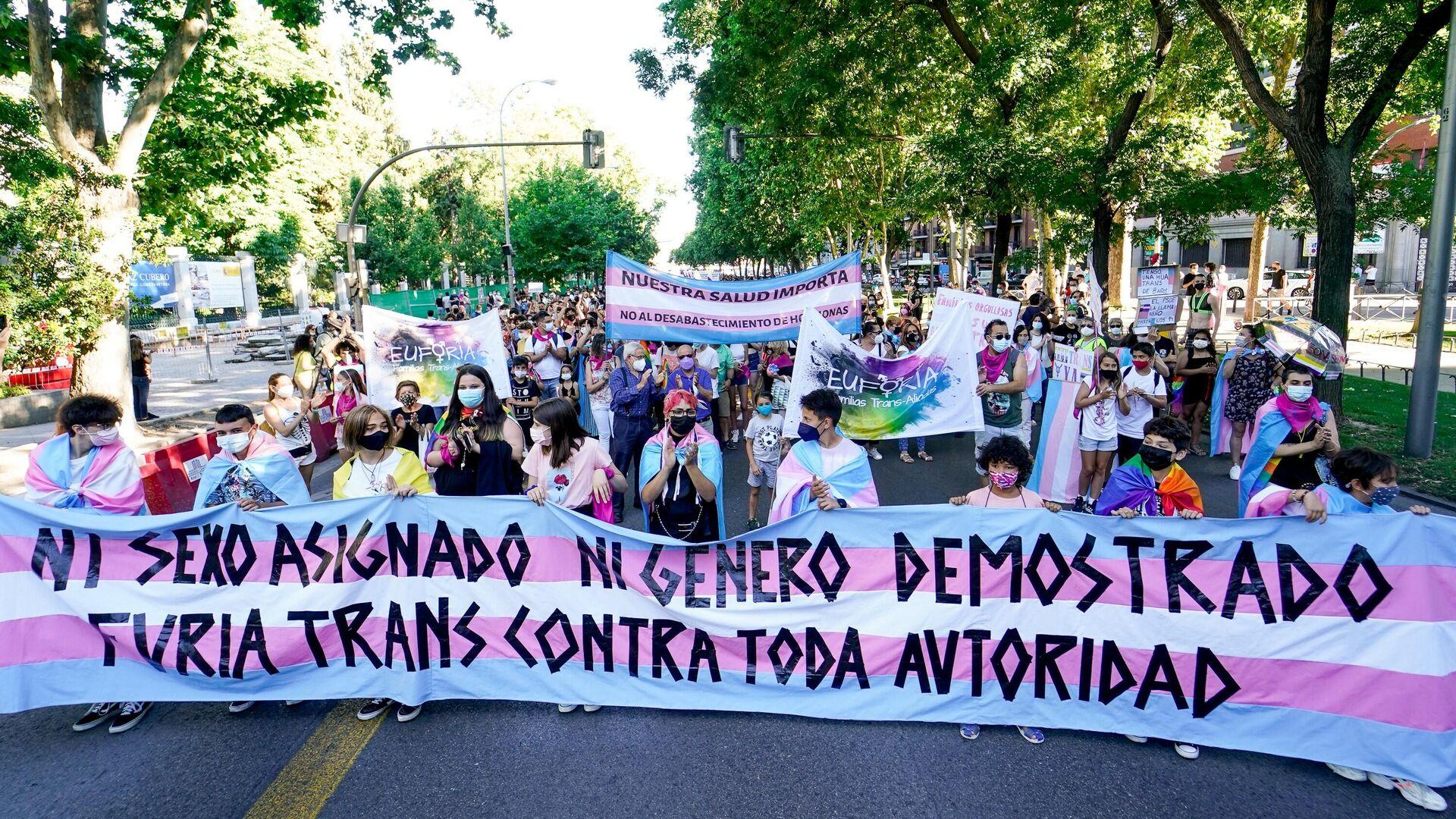 Manifestación convocado por Orgullo Crítico con motivo del Día Internacional del Orgullo LGTBI (Madrid) - Sputnik Mundo, 1920, 29.06.2021