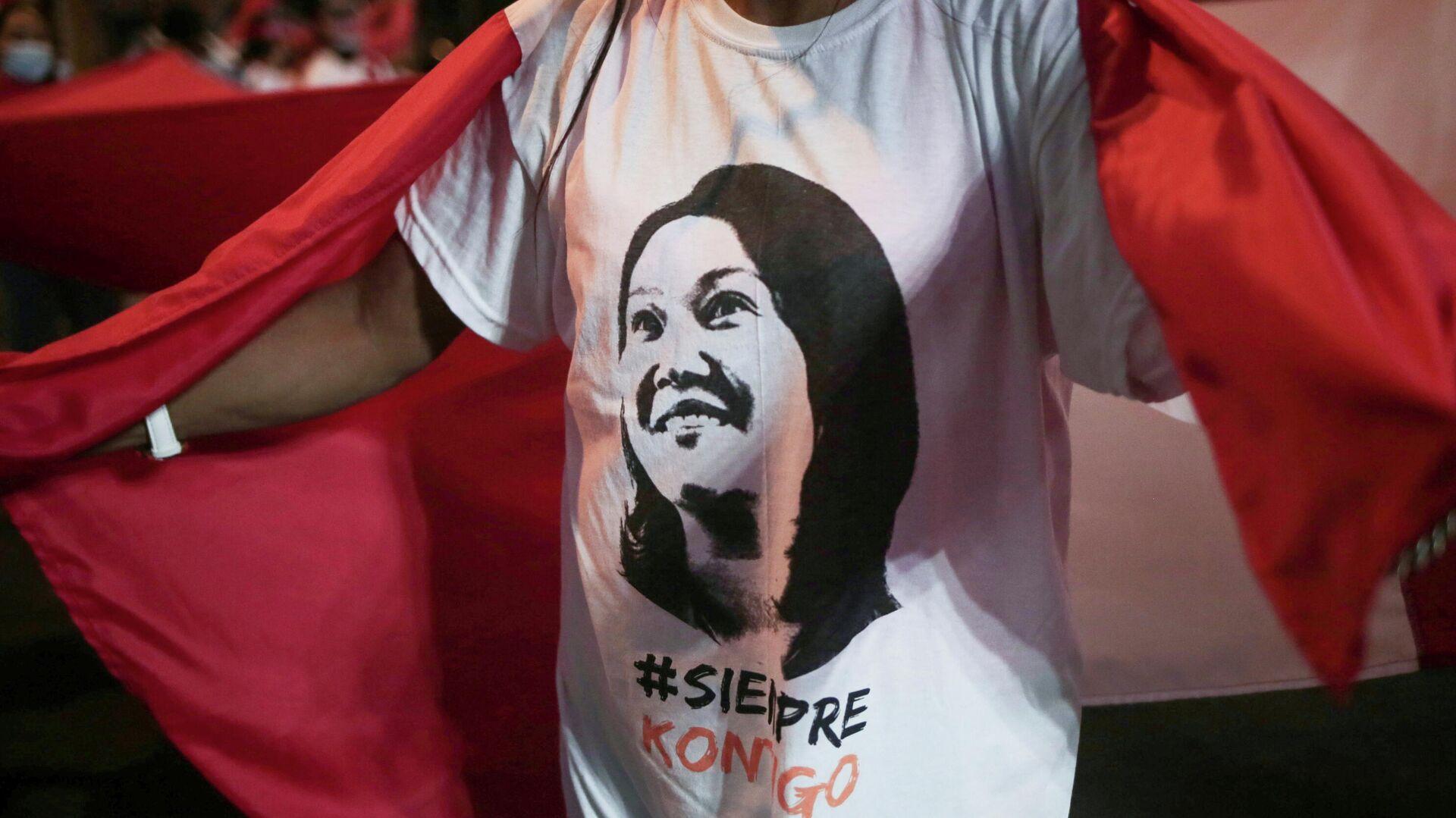 Partidaria de la candidata a la presidencia de Perú, Keiko Fujimori - Sputnik Mundo, 1920, 02.07.2021