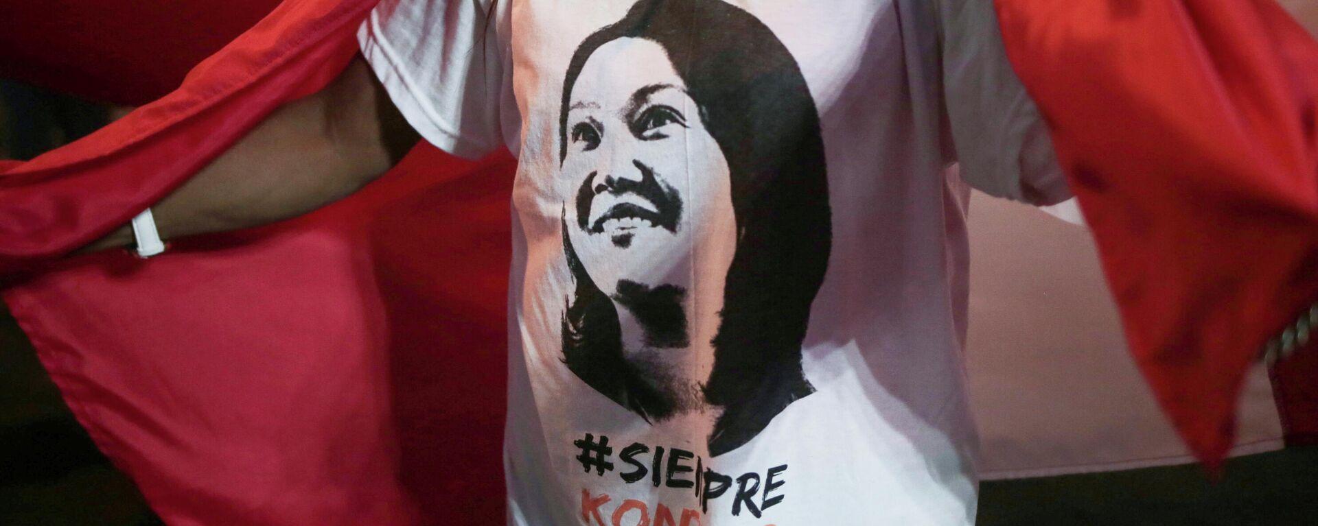 Partidaria de la candidata a la presidencia de Perú, Keiko Fujimori - Sputnik Mundo, 1920, 29.06.2021