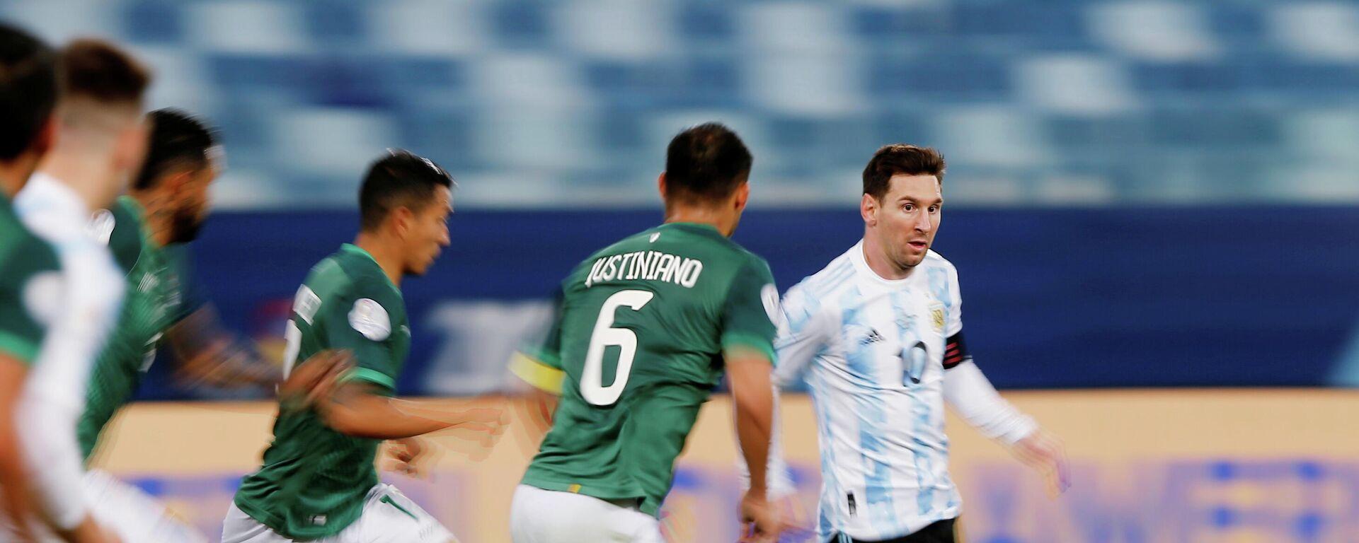 Leo Messi en el partido entre Argentina y Bolivia - Sputnik Mundo, 1920, 29.06.2021