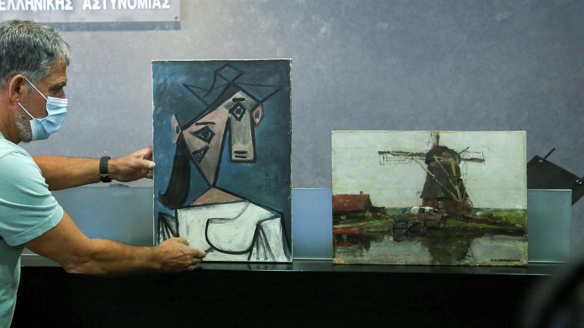 Obras de Picasso y Mondrian robadas hace nueve años de la Galería Nacional de Grecia (Atenas) - Sputnik Mundo, 1920, 29.06.2021