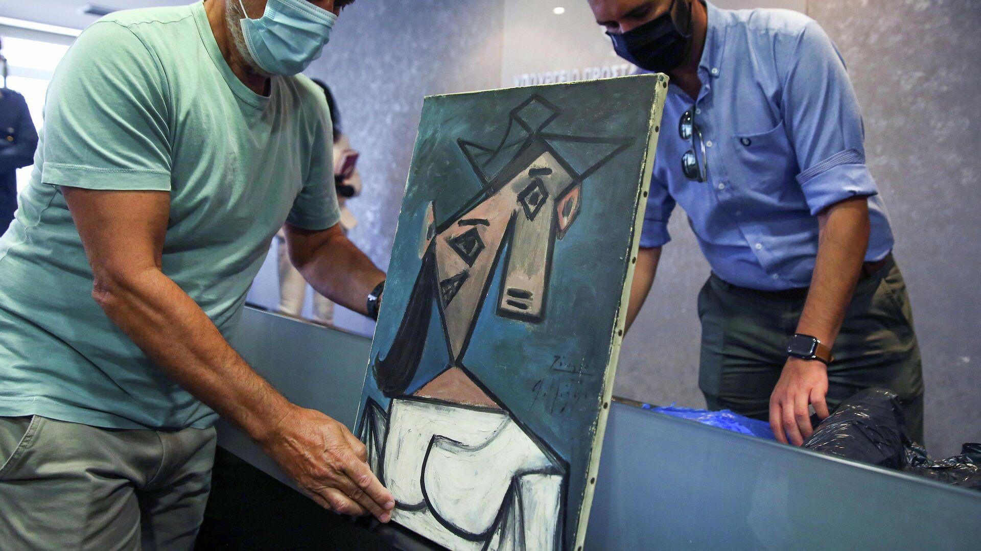 Cuadro de Picasso recuperado tras ser robado hace nueve años de la Galería Nacional de Grecia (Atenas) - Sputnik Mundo, 1920, 29.06.2021