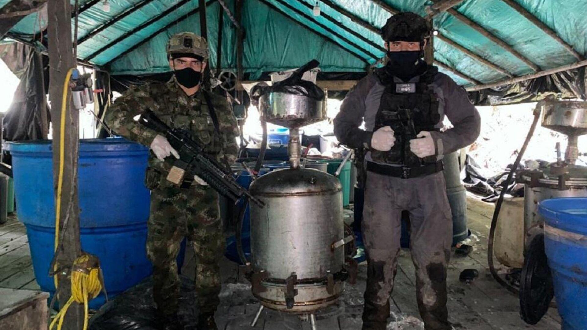 Incautación de cocaína y destrucción de laboratorios en Colombia - Sputnik Mundo, 1920, 29.06.2021