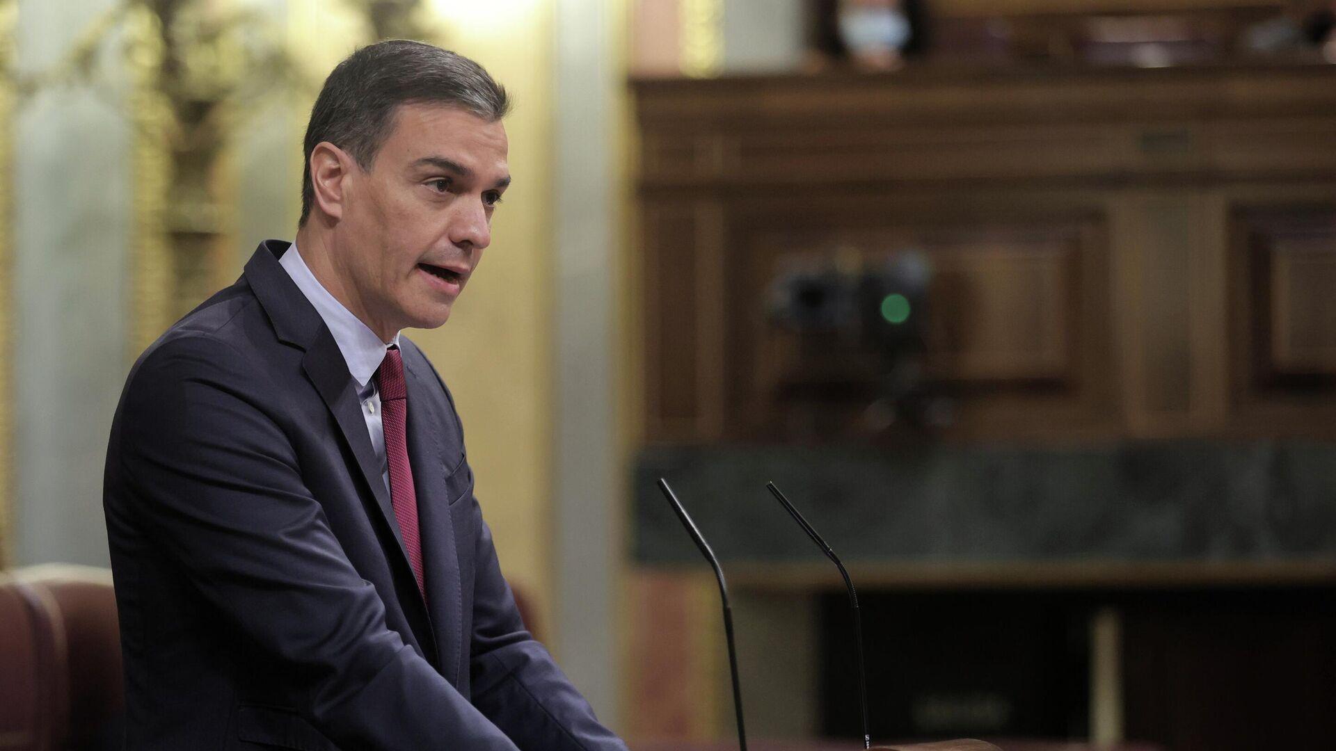 El presidente del Gobierno, Pedro Sánchez, en el Congreso de los Diputados - Sputnik Mundo, 1920, 04.08.2021