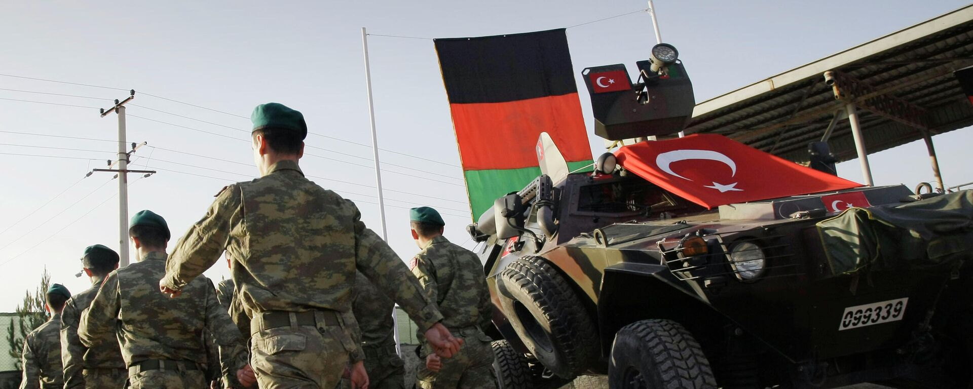 Soldados turcos en el campamento de la OTAN  Dogan en Kabul, Afganistán, octubre de 2012. - Sputnik Mundo, 1920, 17.08.2021