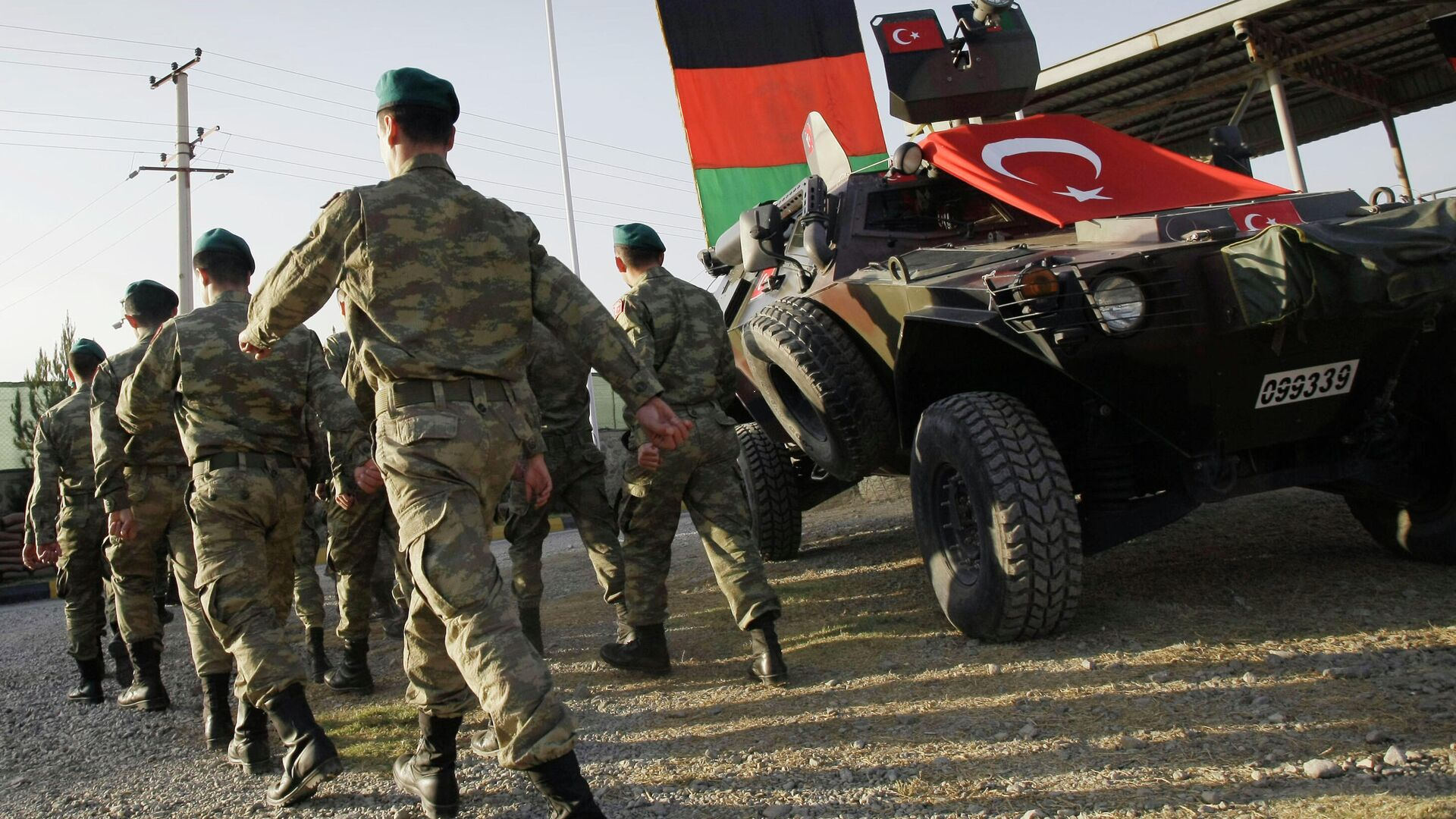 Soldados turcos en el campamento de la OTAN  Dogan en Kabul, Afganistán, octubre de 2012. - Sputnik Mundo, 1920, 13.07.2021