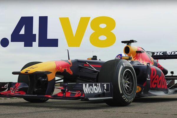 Carrera entre un RB7 de Red Bull y un Bugatti Chiron - Sputnik Mundo