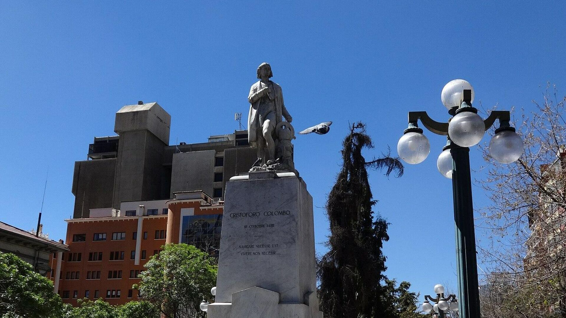 Monumento a Cristóbal Colónen el Paseo del Prado, La Paz, Bolivia - Sputnik Mundo, 1920, 01.07.2021