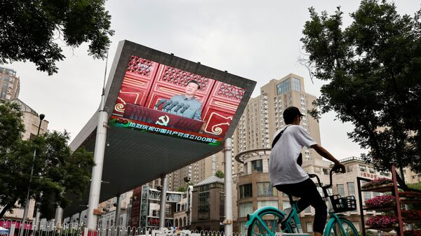 Трансляция выступления председатель КНР Си Цзиньпина на праздновании 100-летия Коммунистической партии Китая в Пекине - Sputnik Mundo