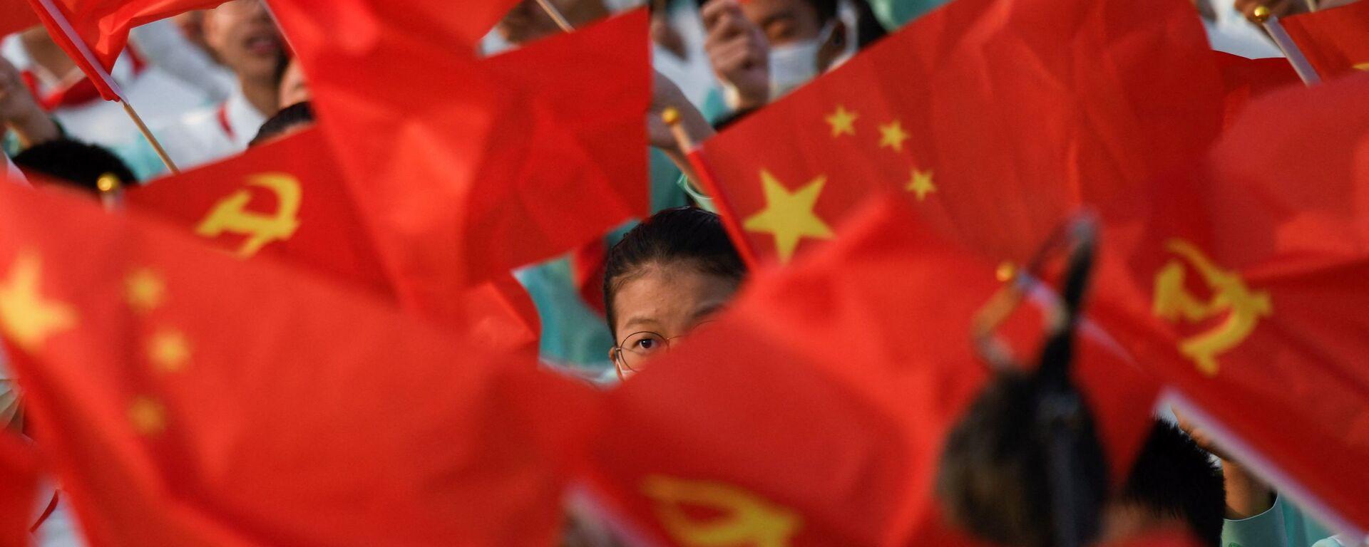 Banderas de China y las del Partido Comunista de China - Sputnik Mundo, 1920, 01.07.2021