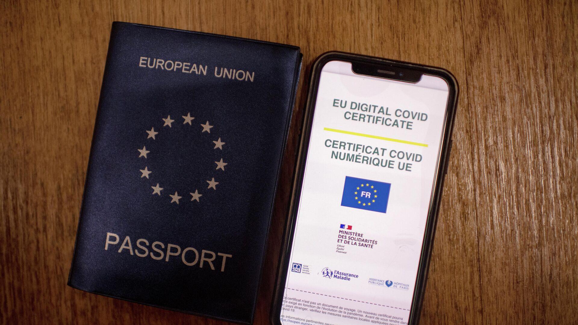 certificado COVID digital en la Unión Europea (UE) - Sputnik Mundo, 1920, 01.07.2021
