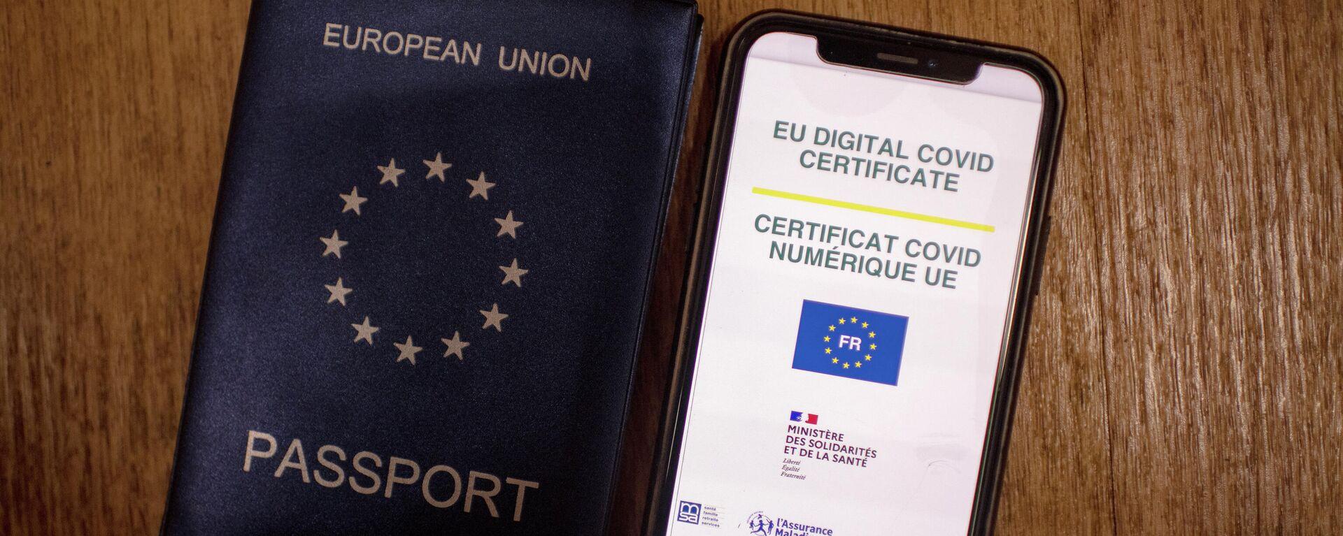certificado COVID digital en la Unión Europea (UE) - Sputnik Mundo, 1920, 28.07.2021