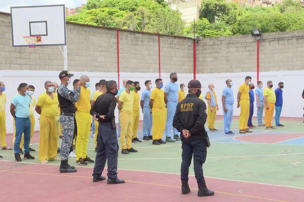 Privados de libertad alojados en el Centro de Formación del Hombre Nuevo Simón Bolívar en Caracas - Sputnik Mundo