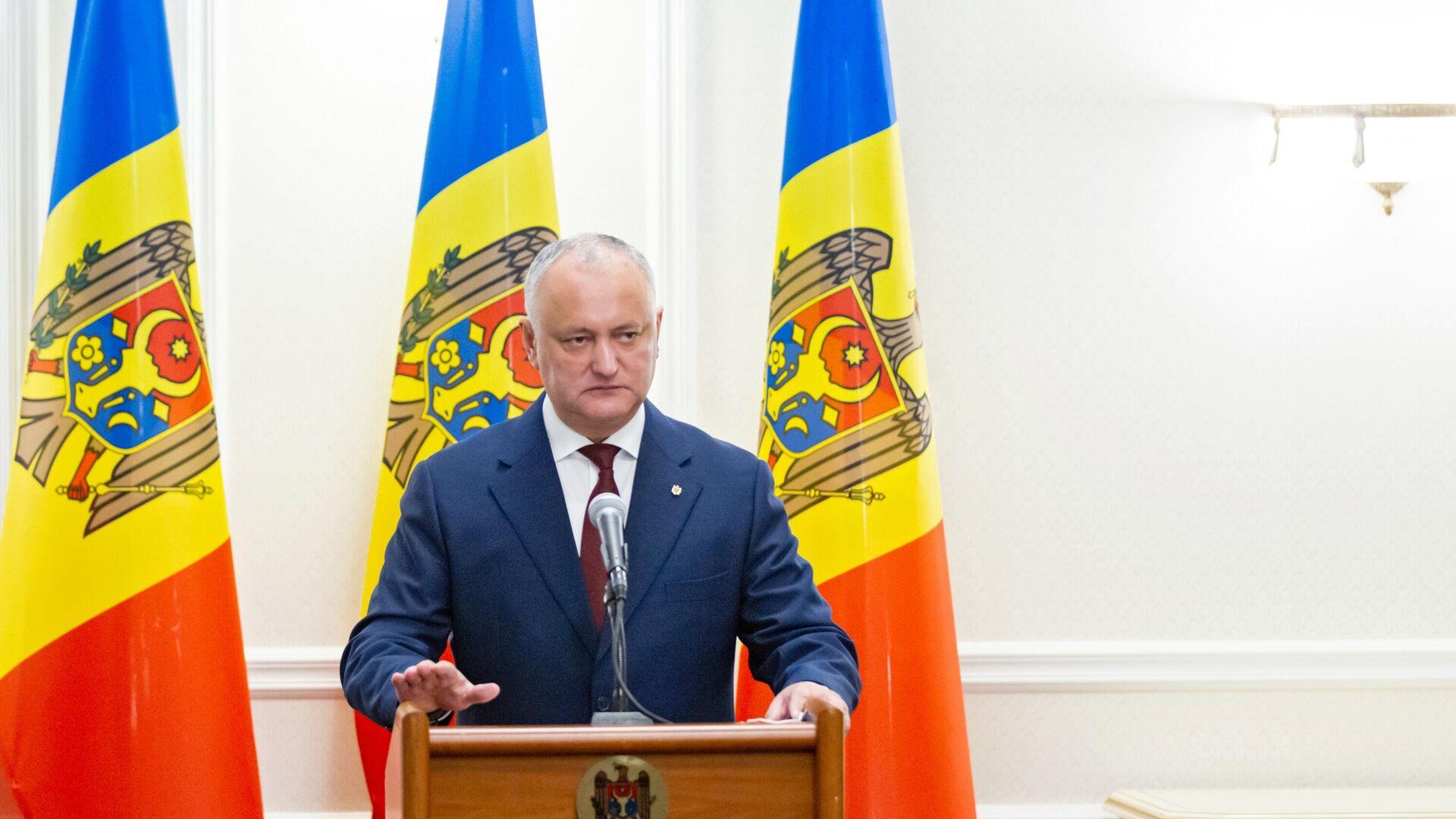 Igor Dodon, el expresidente moldavo - Sputnik Mundo, 1920, 02.07.2021