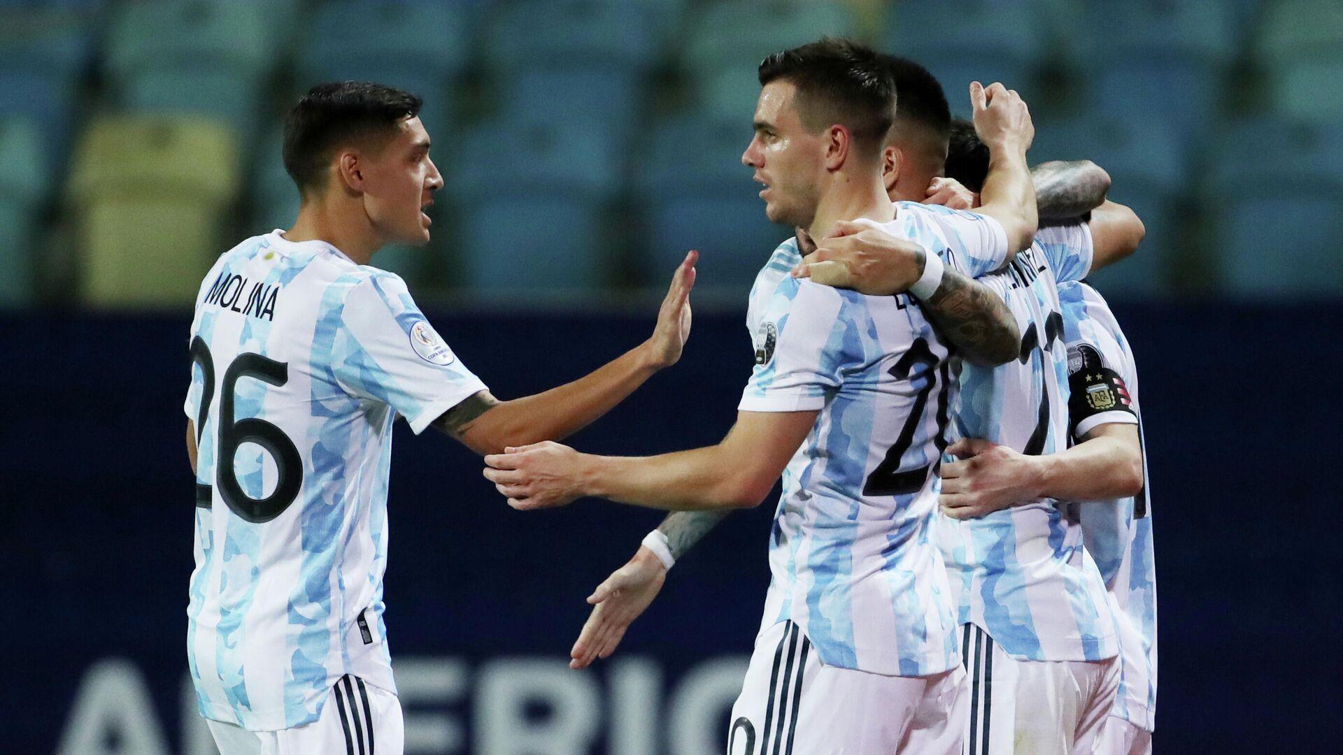 Jugadores de la selección argentina de fútbol - Sputnik Mundo, 1920, 04.07.2021