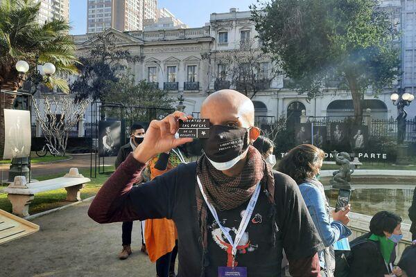 El Constituyente Rodrigo Vade al llegar al ex Congreso - Sputnik Mundo