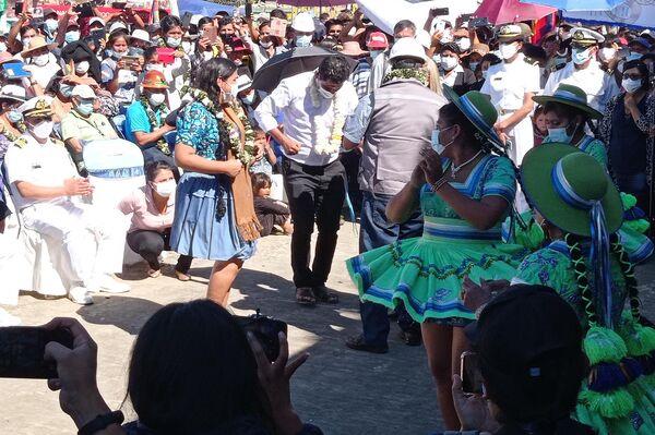 El presidente de Bolivia, Luis Arce reinauguró la hidrovía Ichilo-Mamoré en Puerto Villarroel - Sputnik Mundo