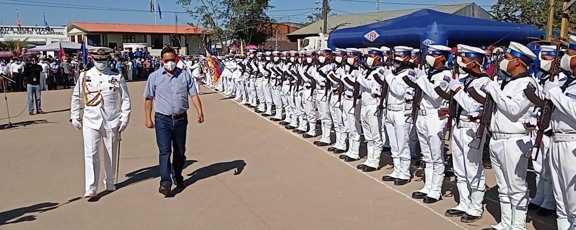 El presidente de Bolivia, Luis Arce reinauguró la hidrovía Ichilo-Mamoré en Puerto Villarroel - Sputnik Mundo, 1920, 05.07.2021