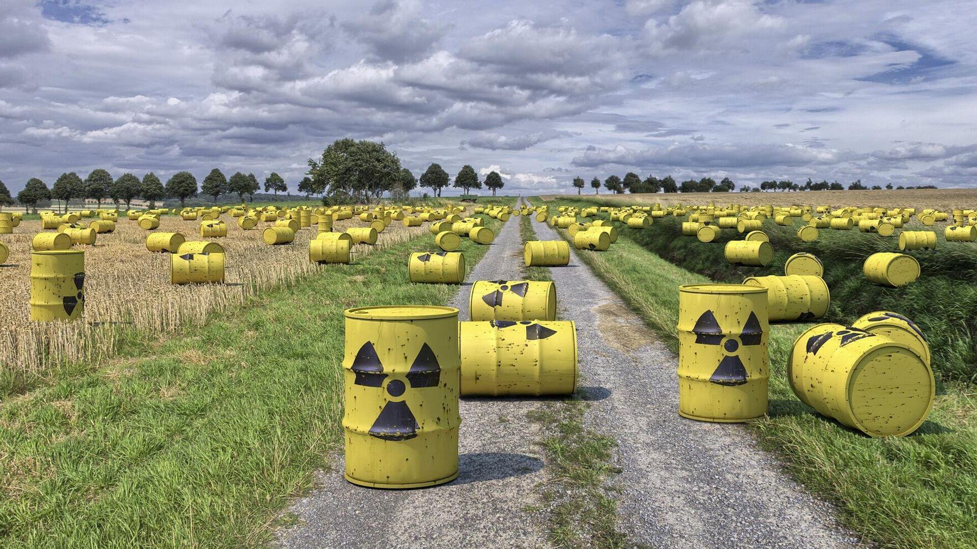Residuos radioactivos (imagen referencial) - Sputnik Mundo, 1920, 06.07.2021