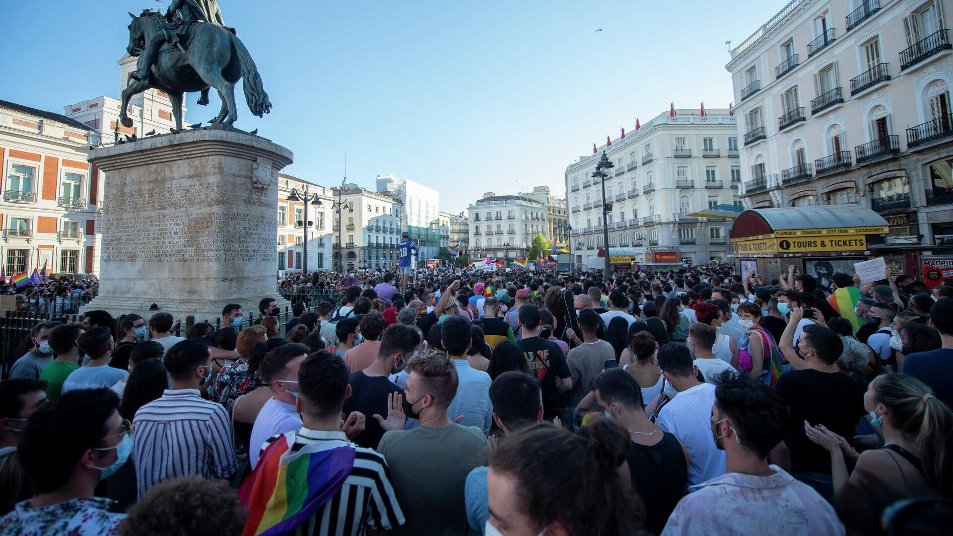 Manifestación para condenar el asesinato de Samuel Luiz en Madrid - Sputnik Mundo, 1920, 06.07.2021