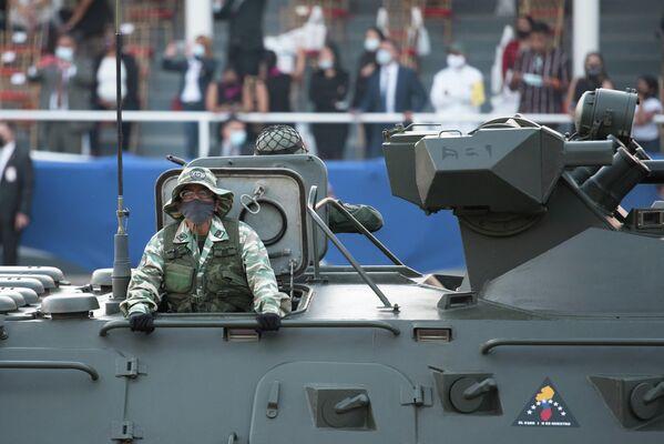 Durante casi tres siglos, Venezuela fue una colonia española. En la foto: los vehículos militares participan del desfile por el Día de la Independencia. - Sputnik Mundo