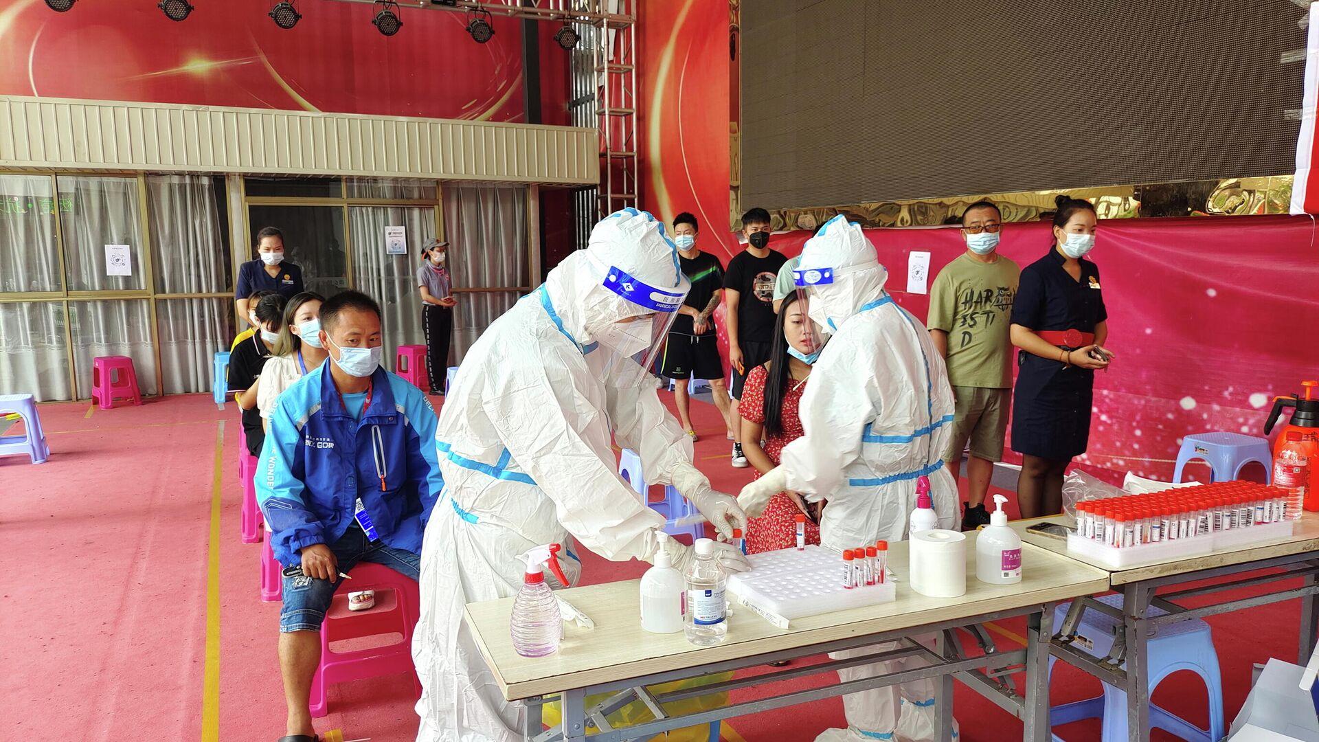 Tests de coronavirus en la ciudad de Ruili, China - Sputnik Mundo, 1920, 07.07.2021